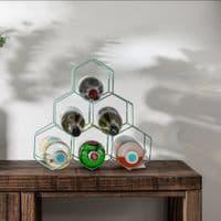 Green Metal Wine Rack | Home Accessories